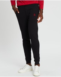 Kent and Curwen - Rose Embroidered Track Pants