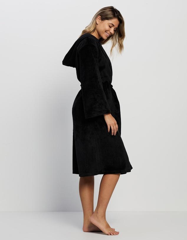 Women Bianca Plush Ribbed Robe