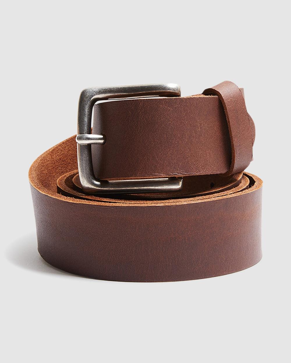 Arvust Everyday Leather Belt Belts TAN