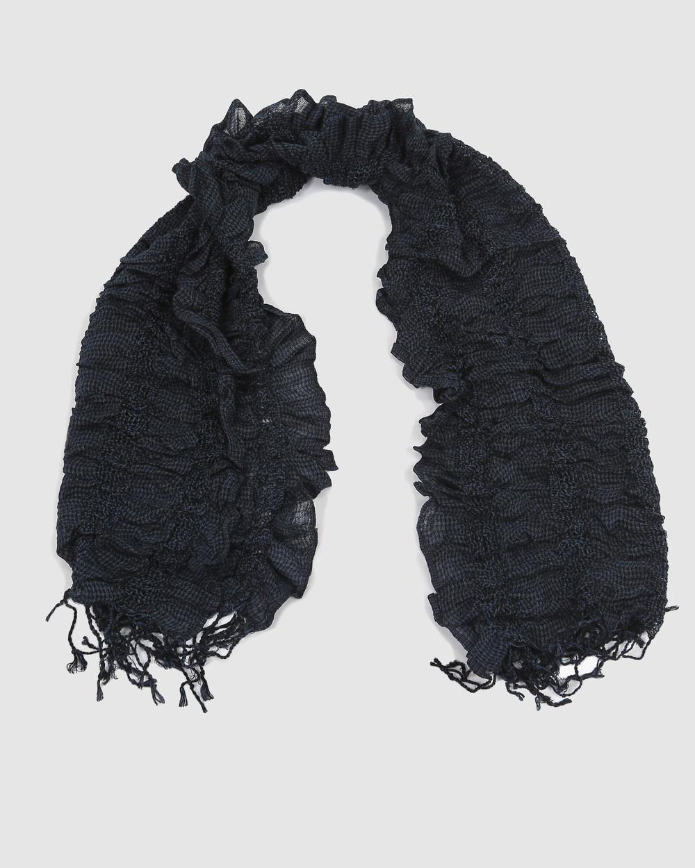 Faye Black Label Scarf Scarves & Gloves Blue