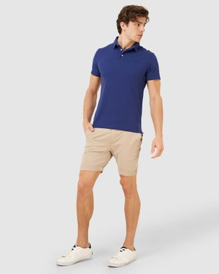 Superdry Orange Label Jersey Polo - T-Shirts & Singlets (Beechwater Blue)