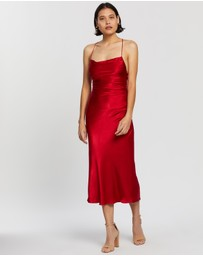 Shona Joy - Wright Ruched Backless Slip Dress