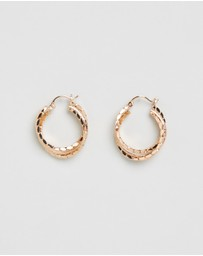 Reliquia Jewellery - Layered Textured Hoops