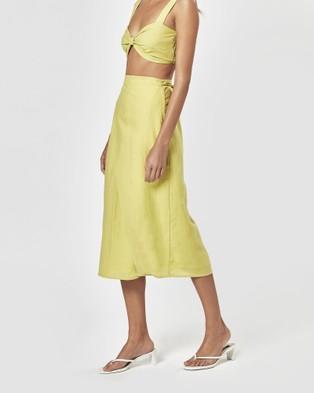 Charlie Holiday Mila Wrap Skirt - Skirts (Chartreuse)