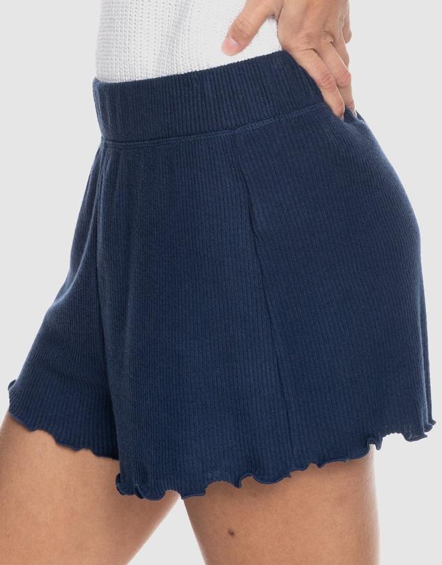 Women Womens Cozy Day Rib Knit Lounge Shorts
