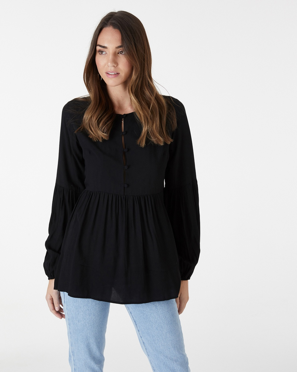 Everly Collective Rendezvous Top Tops Black Rendezvous Top