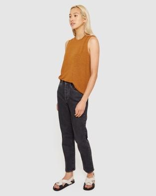 Jag Ava Linen Tank - T-Shirts & Singlets (neutrals)