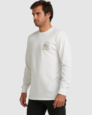 Billabong - Adiv Transition Long Sleeve Tee - T-Shirts & Singlets (OFF WHITE) Adiv Transition Long Sleeve Tee