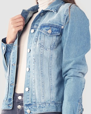Amelius Vintage Denim Jacket - Denim jacket (Light Denim)