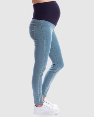 Maive & Bo Good Genes Maternity Jeggings - Jeans (Denim)
