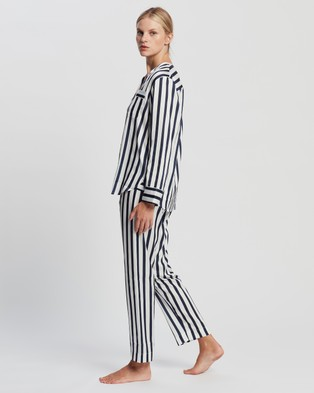 Jasmine and Will Portofino Long Pyjama Set - Two-piece sets (Navy Stripe)