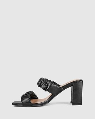 St Sana Peyton Mules - Heels (Black)