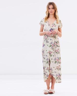 Auguste The Label – Ella Wrap Maxi Dress Natural