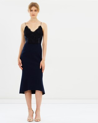 CAMILLA AND MARC – Ricci Fit and Flare Dress – Bridesmaid Dresses (Navy)