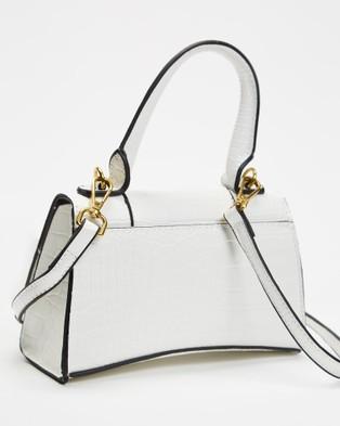 PETA AND JAIN Brandy Mini Top Handle Bag - Handbags (White Croc)