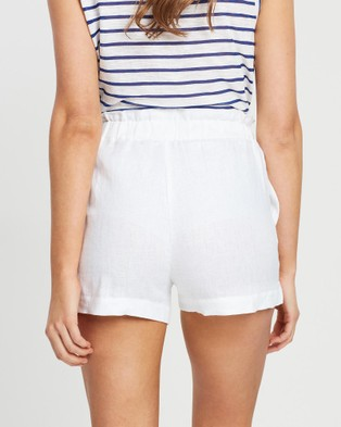 White By FTL Oakley Shorts - High-Waisted (White)