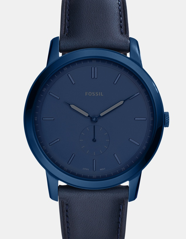 Fossil - The Minimalist Blue Analogue Watch