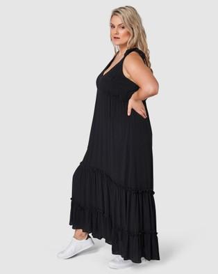 Indigo Tonic Gina Tiered Maxi Dress - Dresses (Black)