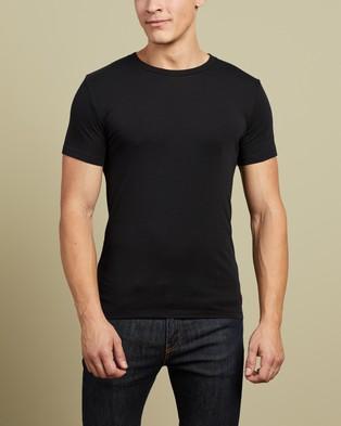 Polo Ralph Lauren - 2 Pack Short Sleeve Crew Tees - T-Shirts & Singlets (Black) 2-Pack Short Sleeve Crew Tees