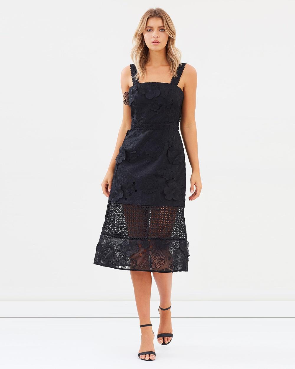 Talulah Virtuous Lace Midi Dress Dresses Black Virtuous Lace Midi Dress
