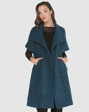 Faye Black Label Wrap You Gently Coat - Coats & Jackets (Teal)