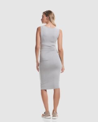 Soon Maternity Honor Feeding Tank Dress - Bodycon Dresses (Grey)