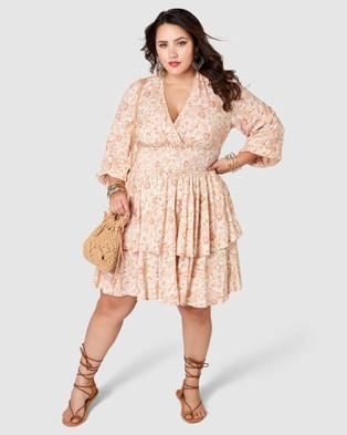 The Poetic Gypsy Sunset Sydney Midi Dress - Printed Dresses (Pink)