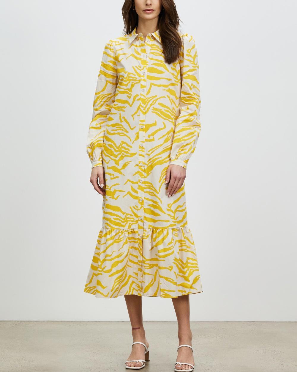 Aligne Cecilie Shirt Dress Printed Dresses Tiger Print