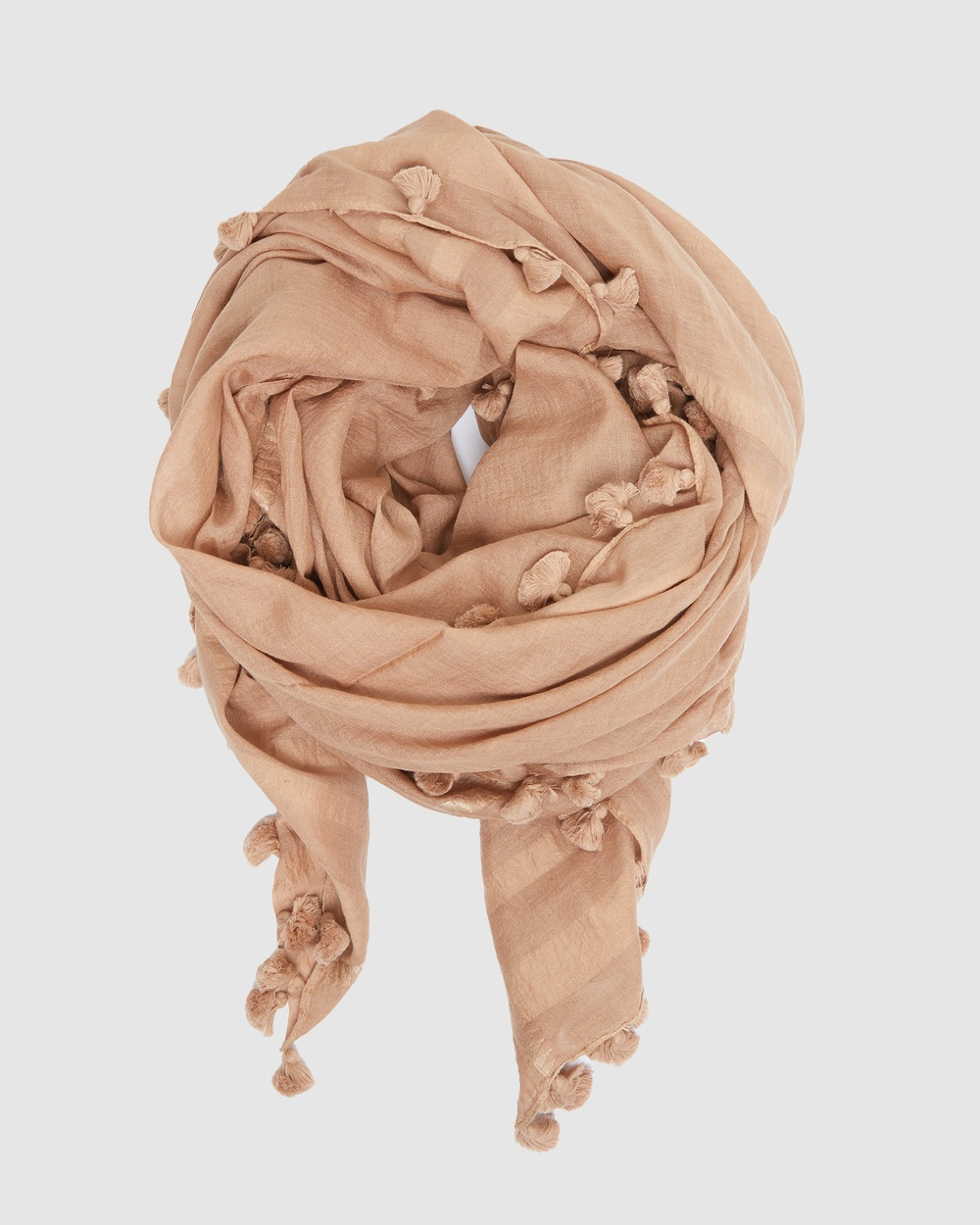 Cloth & Co. Hand Loomed Silk Wool Scarf Scarves Gloves Amaretto