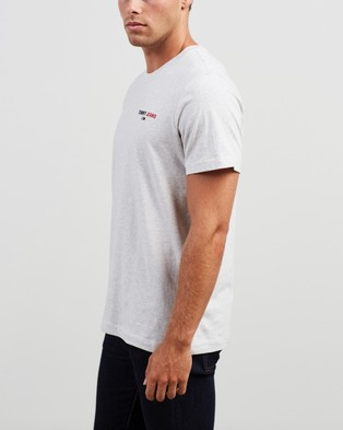Tommy Jeans Chest Corp Tee - T-Shirts & Singlets (Grey Heather)