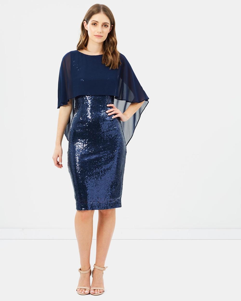 Montique Nicolle Sequin Shift Dress Dresses Navy Nicolle Sequin Shift Dress