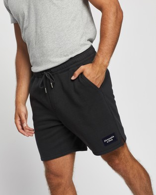 Abercrombie & Fitch Patch Logo Shorts - Shorts (Grey)