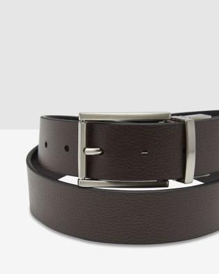 Oxford Archer Leather Belt - Belts (Black/Brown)