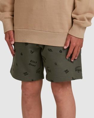 Billabong Boys Printed Fleece Shorts - Shorts (PINE)