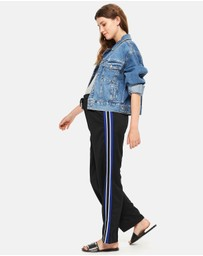 TOPSHOP Maternity - MATERNITY Striped Jogger Pants