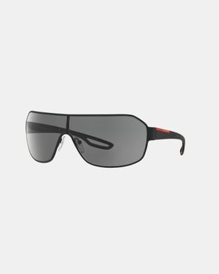 Prada Linea Rossa Prada Linea Rossa PS52QS - Sunglasses (Black & Grey)