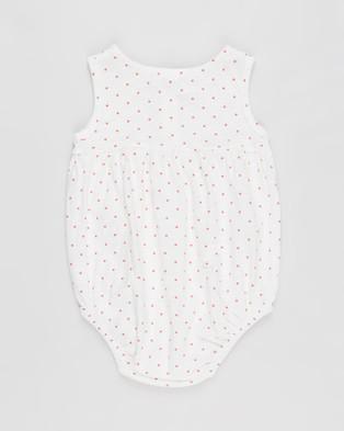 Cotton On Baby Craigelina Singlet Bubbysuit   Babies - Bodysuits (Vanilla & Red Orange Joy Spot)