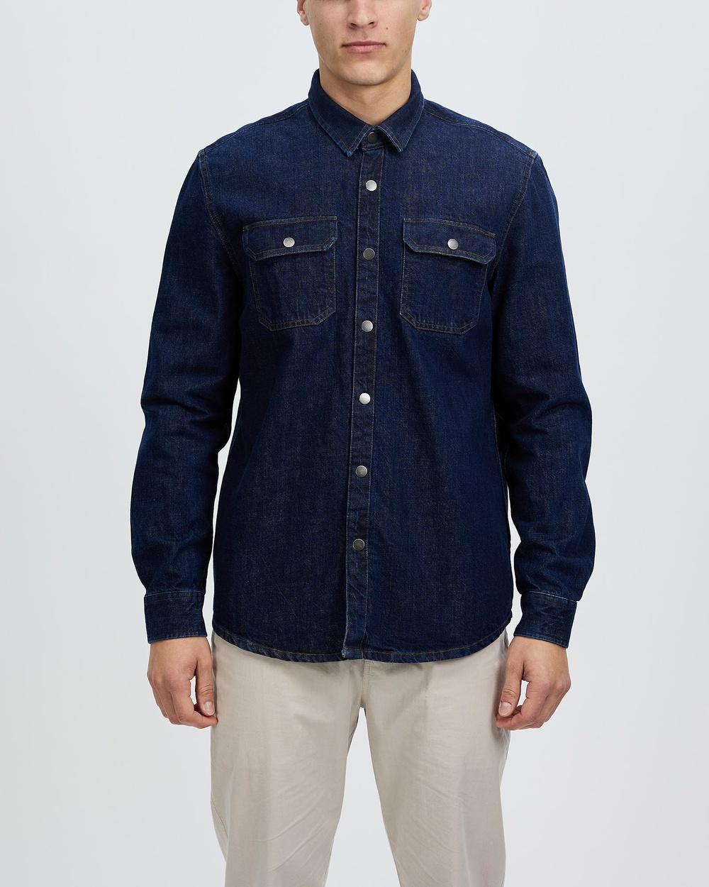 Marcs Hank Denim Overshirt Casual shirts DENIM