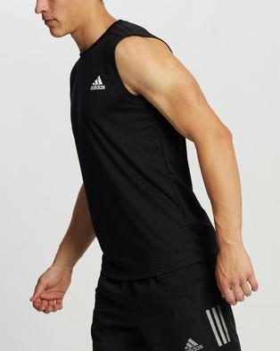 adidas Performance AEROREADY Designed To Move 3 Stripes Sport Tank - Muscle Tops (Black)