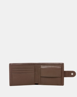 Buckle Shawn RFID Leather Wallet - Wallets (Brown)