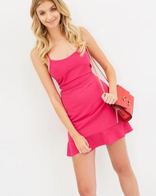 Atmos & Here – Adele Mini Dress Fuchsia Pink