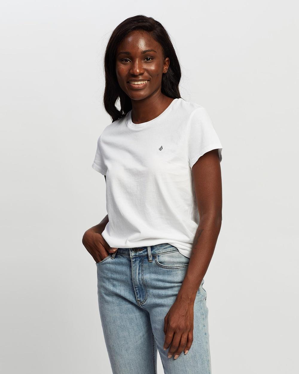 Volcom - Stone Blanks Short Sleeve Tee - T-Shirts & Singlets (White) Stone Blanks Short Sleeve Tee