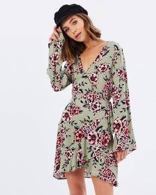 MINKPINK – Femme Flora Wrap Dress – Dresses (Multi)