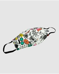 Ford Millinery - Doodle Reversible Fabric Face Mask