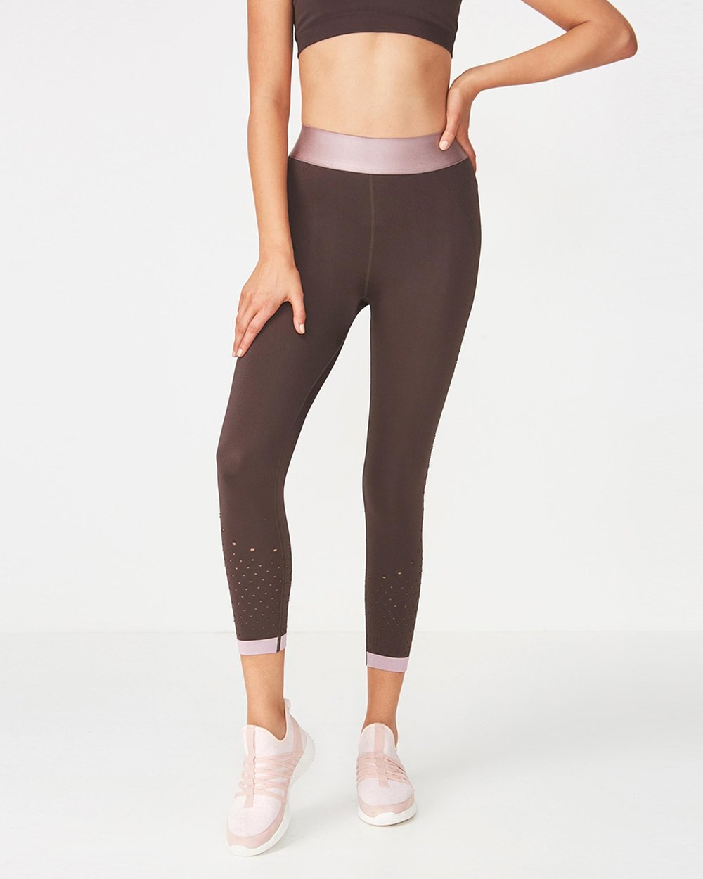 bf0b0e2447efa Jacquard Mesh Seamfree Tights by Cotton On Body Active Online | THE ICONIC  | Australia