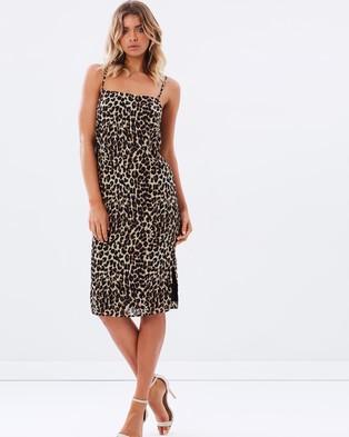 Atmos & Here – Goldie Slip Dress – Dresses (Leopard)