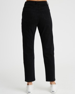 The Fated Izzy Mum Jean - High-Waisted (Black)