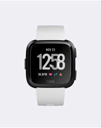 Fitbit - Fitbit Versa Watch White/Black
