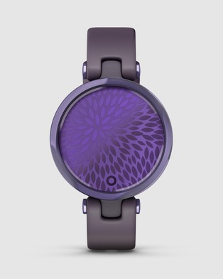 Garmin Lily   Sport Edition - Fitness Trackers (Midnight Orchid Bezel with Deep Orchid Case and Silicone)