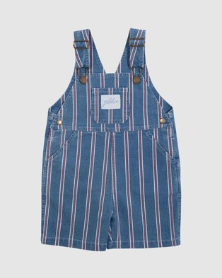 Goldie + Ace Burton Denim Overalls   Babies Kids - Jumpsuits & Playsuits (Stripe Denim)